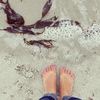 carmel beach toes